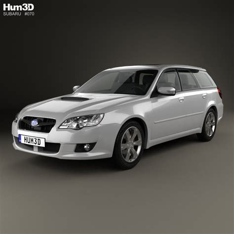 custom subaru legacy wagon subaru legacy station wagon 2008 3d model hum3d