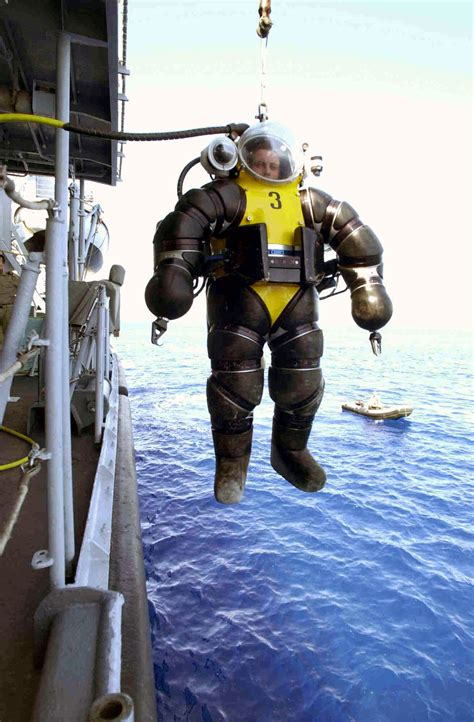 dive suit the evolution of the atmospheric diving suit gizmodo