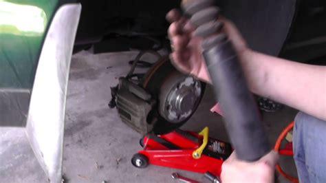 volkswagen jetta removing rear shocks part  youtube