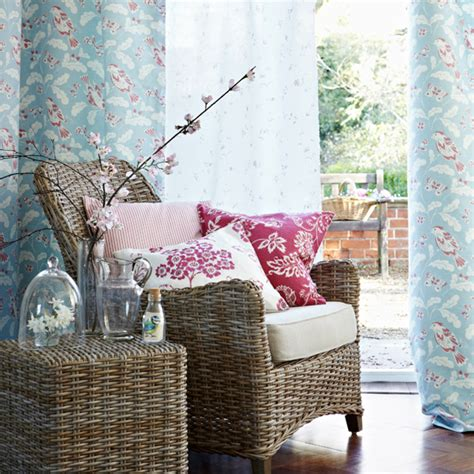 duck egg blue and pink living room ideal home