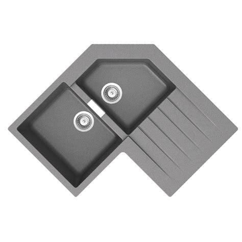 dimension evier 201 vier d 180 angle en granit schock lokti 2 bacs 1 233 gouttoir