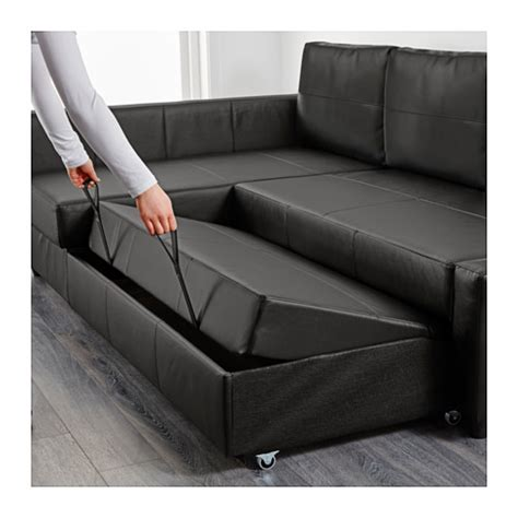 ikea couch bed storage friheten corner sofa bed with storage bomstad black ikea