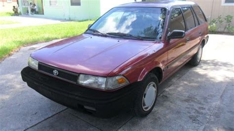 buy car manuals 1992 toyota corolla engine control buy used 1992 toyota corolla dlx wagon 5 door 1 6l 5 speed manual low reverse in orlando