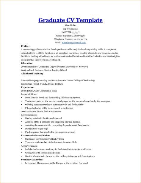 Resume Objective For New College Graduate by College Student Resume Exles Experience Resume