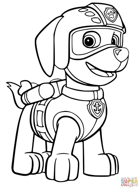 coloring pages paw patrol free paw patrol coloring page coloring home