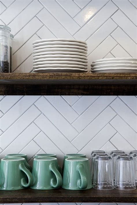 kitchen tile backsplash herringbone