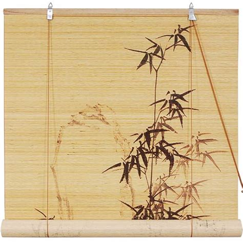 Bamboo Style Blinds window blinds black bamboo design blinds