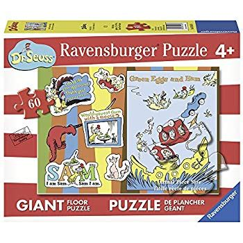 100 Floors With 2 Eggs Puzzle by Ravensburger Dr Seuss Green Eggs Ham Floor