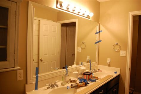 Trim Bathroom Mirror Design Gal Handyman Bathroom Mirror Frame