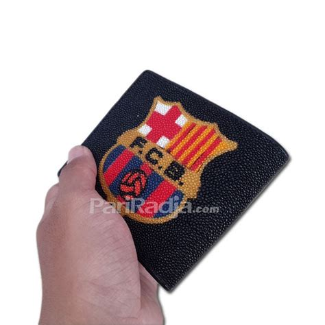 Tas Sepatu Barcelona Logo by Dompet Pria Kulit Pari Logo Barcelona Hitam