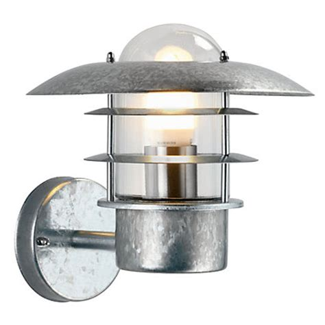 Outdoor Lights Homebase Ufo Garden Wall Light Galvanised Steel At Homebase Be Inspired And Make Your House A Home