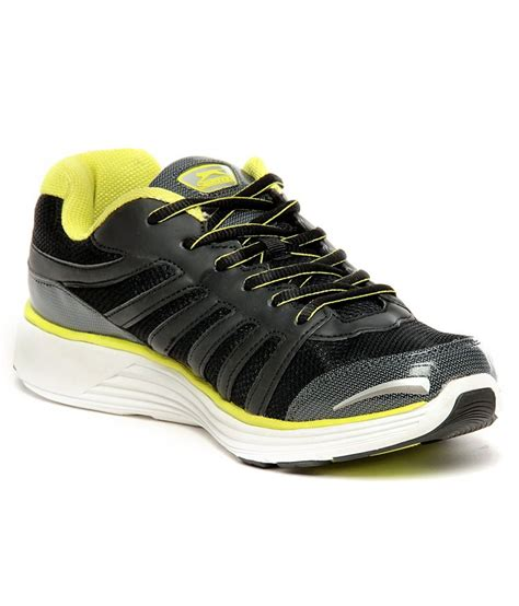 buy slazenger spencer black lime green running shoes for