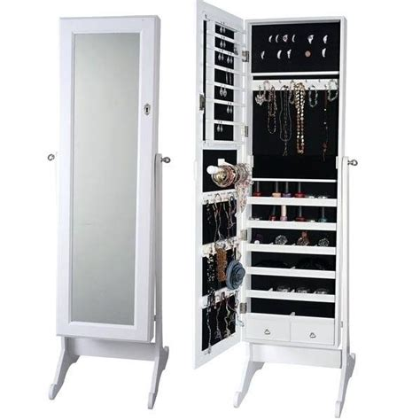 free standing jewellery armoire uk 30 inspirations of free standing black mirrors