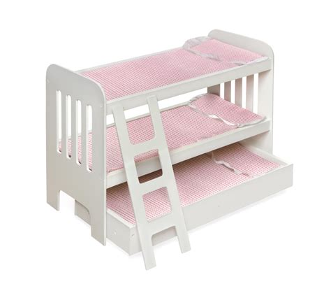 doll bunk bed badger basket trundle doll bunk beds with ladder by oj