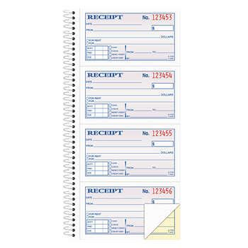 Cosco Receipt Template by Carbonless Two Part Rent Receipt Books 2 3 4 Quot X 4 3
