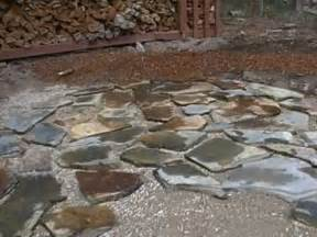 how to lay a flagstones patio part 1of2 mp4 youtube