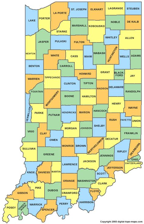 county map of indiana indiana county map in counties map of indiana