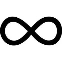 Infinity L Simple Black Infinity Symbol Free Clip Polyvore