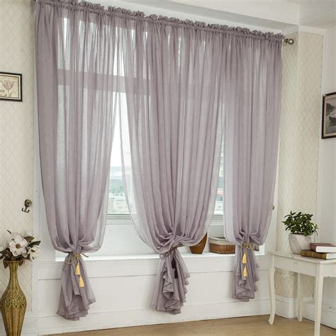 Best Store To Buy Curtains Free Shipping Quality Balcony Window Linen Tulle Fabric