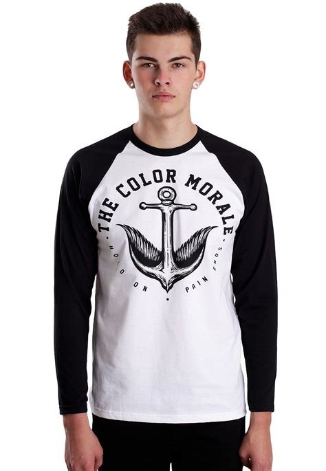 the color morale the color morale anchor bird white black longsleeve