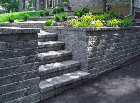interlocking garden wall blocks interlocking block retaining wall front yard landscaping