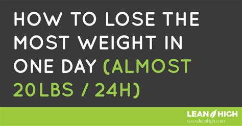 Just How Did Lose All That Weight by How To Lose The Most Weight In One Day Almost 20lbs 24h