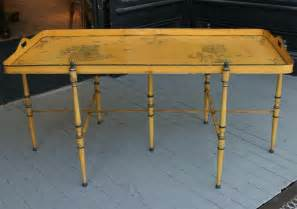 yellow coffee table yellow tole coffee table at 1stdibs