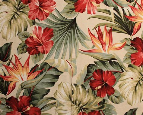 hawaiian floral pattern new source for retro barkcloth 27 patterns 68 colorways