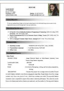 Text Resume Format Text Resume Format