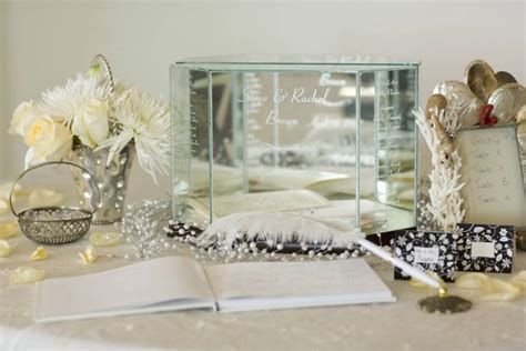 Glass Wedding Money Card Box Personalized Gift Box