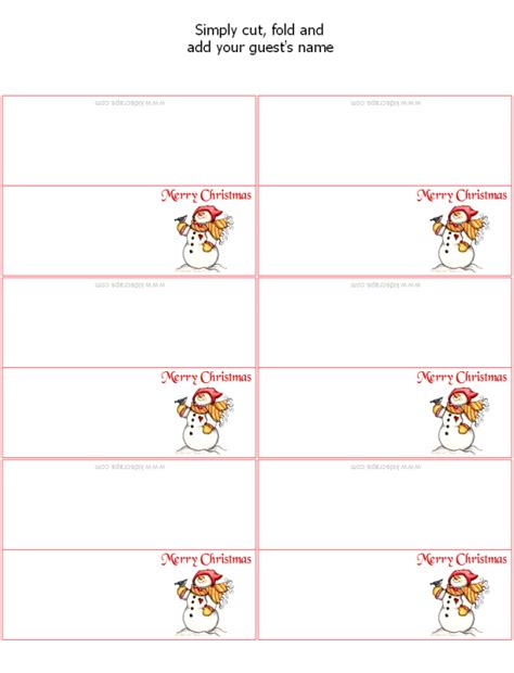 placecards template free printable place cards templates free