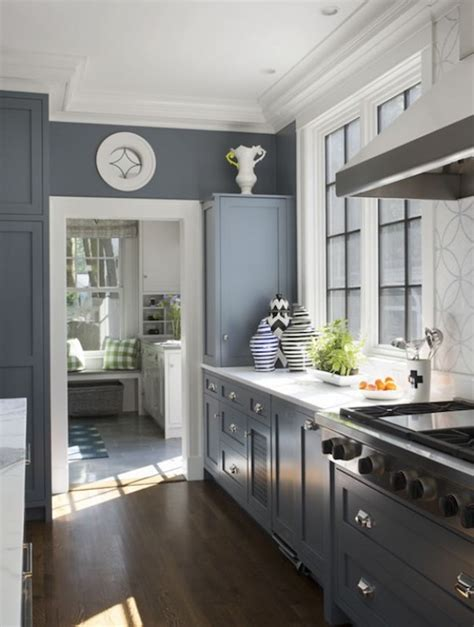 gray blue kitchen cabinets blue gray cabinets contemporary kitchen liz caan