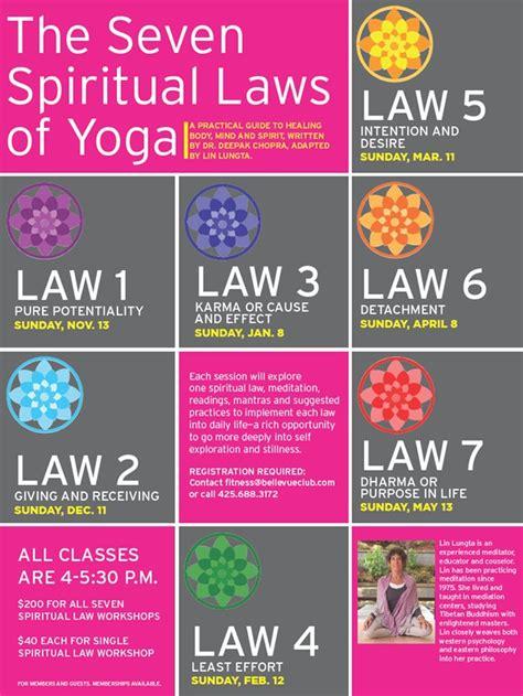 the seven spiritual laws pin by alyssa barranca on exercise