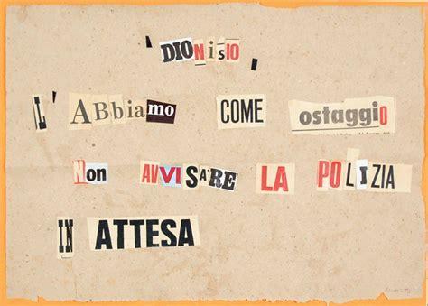 lettere anonime raoul schultz lettere anonime collage su carta asta