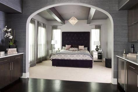 modern glam bedroom purple glam master bedroom contemporary bedroom dallas by rsvp design services