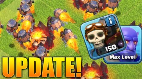 clash of clans troop upgrade clash of clans rocketeer info new troop update to coc