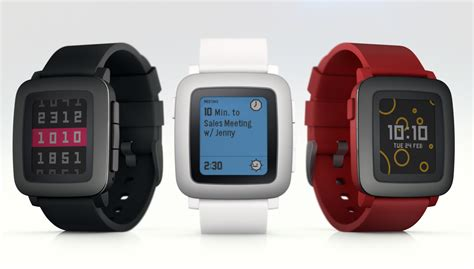 Smartwatch Pebble Time Pebble Announces Its Pebble Time Steel Smartwatch At Mwc 2015
