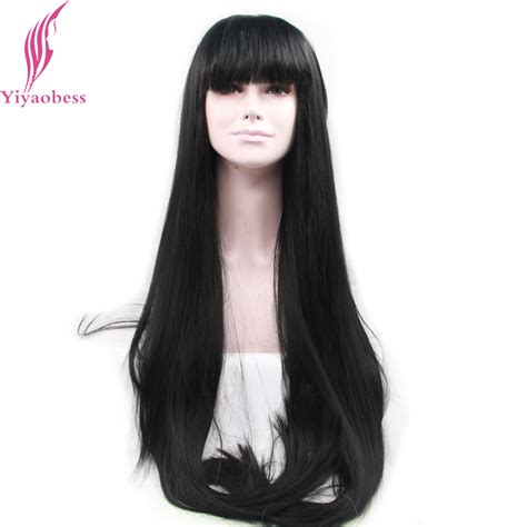 Black Hairstyles Wigs by Yiyaobess Heat Resistant Lace Front Wig Synthetic