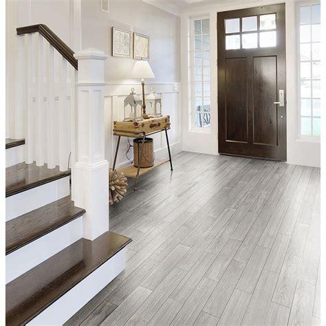 Style Selections Eldon White Wood Look Porcelain Floor