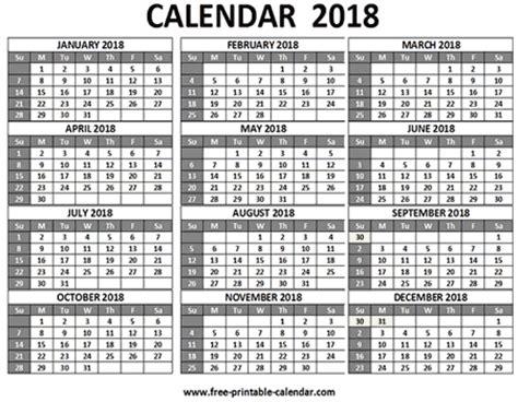 Calendar 2018 6 Months Free Printable 2018 Calendars Free 2018 Calendar