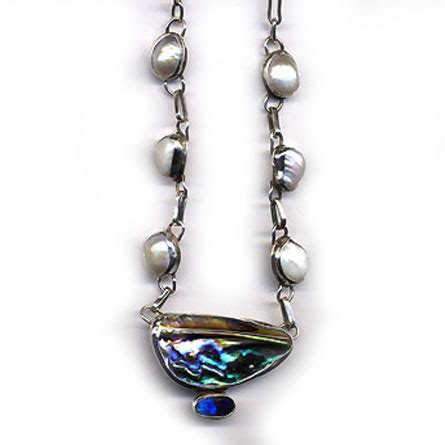 Handcrafted Jewellery Melbourne - necklace pawa pearl 187 handcrafted jewellery melbourne