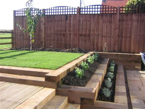 Garden Ideas With Sleepers by Hardwood Railway Sleepers For Sale