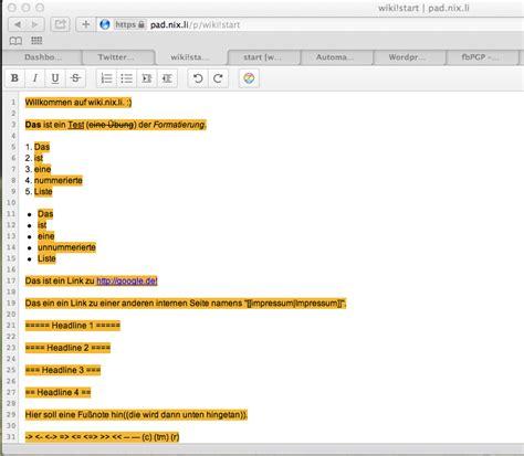 etherpad lite wikipad etherpad lite mit dokuwiki synchronisieren