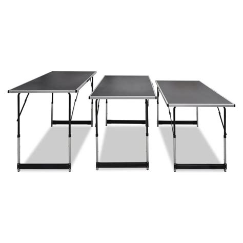tavoli da lavoro pieghevoli 3x tavolo da lavoro pieghevole altezza regolabile vidaxl it