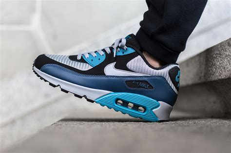 Nike Air Max 90 Essential Squadron 537384 414 Running Shoes Oss nike air max 90 essential squadron blue wolf grey sneaker bar detroit