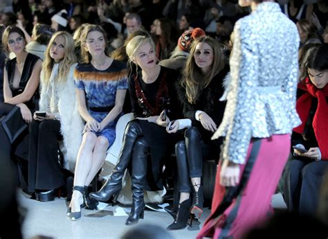New York Fashion Week Front Row Zoe Hathaway Gisele And Co by Zoe Photos Photos Altuzarra Front Row Fall