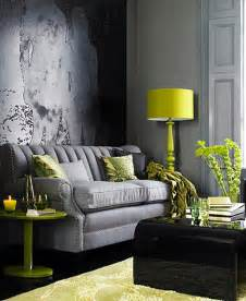 Decor in green and gray