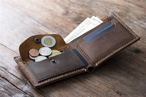 Handmade Personalized - leather coin pocket wallet handmade original design by