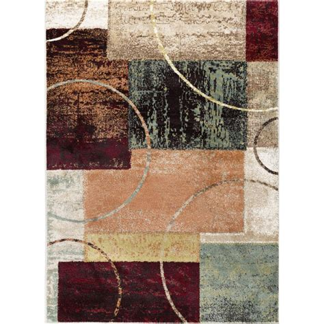 10 ft contemporary rugs tayse rugs deco multi 7 ft 10 in x 10 ft 3 in