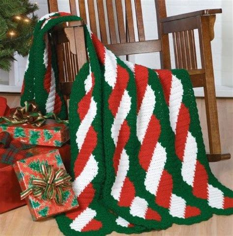 pattern christmas afghan w673 crochet pattern only peppermint twist afghan throw